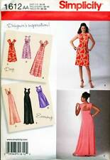 SIMPLICITY SEWING PATTERN 1612 WOMENS 20W-28W DAY/EVENING DRESS MAXI, PLUS SIZES