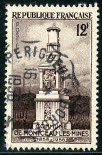 STAMP TIMBRE FRANCE OBLITERE N° 1065 MONUMENT AUX MINEURS DE MONTCEAU LES MINES