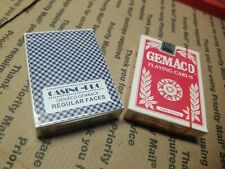 Vintage Lot Gemaco Sealed new Playing Cards Casino 2 Packs Red Blue Rare Look