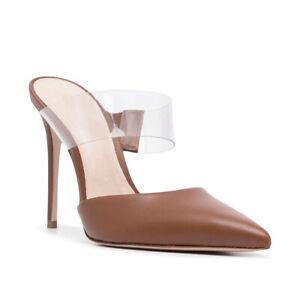 Summer New Women Fashion Pointed Toe Stilettos Transparent Buckle Super Oversize