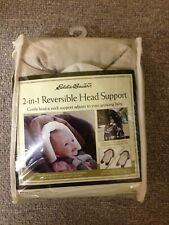 Baby 2-in-1 Reversible Head Support ~ Eddie Bauer ~ Brown And Cream