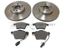 SEAT ALHAMBRA 1.9 2.0 TDI 1.8 2001-2010 FRONT 2 BRAKE DISCS AND PADS (CHECK SIZE