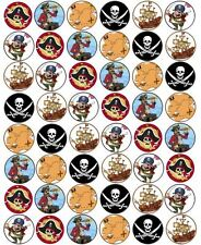 48 x 3cm Pirate Fairy Cup Cake Toppers Edible Rice Wafer Paper