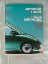 Catalogo Illustrierte Automobil Revue  Revue Automobile Illustree 1992