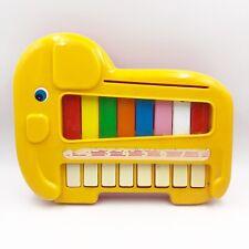 Vintage 1985 Blue Box Bluebox Child Kids Toy Yellow Elephant Piano Rare
