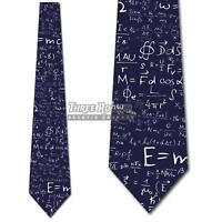 Physics Equation Navy Ties E=MC2 Tie Men's Science Ties Brand New