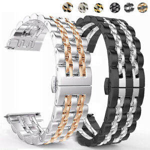20mm 22mm Stainless Steel Band Strap for Samsung Galaxy Watch 42mm 46mm Active 2