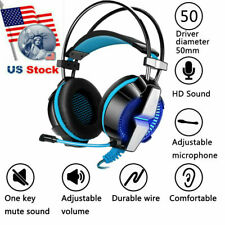 3.5mm Gaming Headset with Mic LED Headphones Surround For PC Laptop PS4 One NEW
