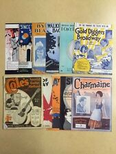 Collection of Original Vintage Sheet Music and Song Books/Guides 1920's-30's
