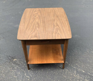 Mid Century Modern Lane End Table with  Drawer Formica Top