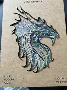 MYSTERIOUS DRAGON Figured Wooden Puzzle 146 Pieces