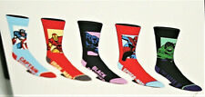5 Pair Marvel Comics Avengers Iron Man Hulk New Casual Crew Socks sz 8-12 shoe