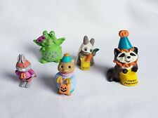 Lot of 5 Hallmark Halloween Merry Miniatures Includes Raccoon Clown