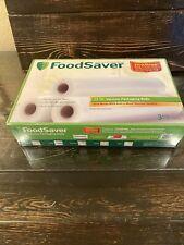 """FoodSaver 3 11""""x18 ' Vacuum Rolls  One Quart Bags Combo Pack"""