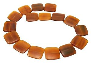 Golden Horn Beads Size Flat Squares 0 31/32in Bone Beads Natural Beads