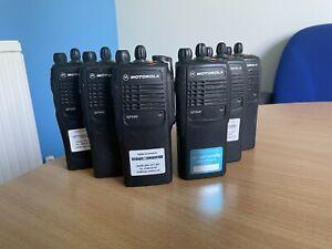 6 X Motorola GP340 UHF Two Way Radios w/ 6-Way Charger JOB LOT