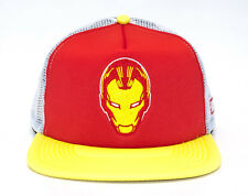 Addict Marvel Ironman Iron Man Visione stile CAMIONISTA Snapback Rosso/Giallo