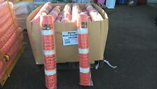 White/Red Barrier Safety Barricade Mesh Fencing - 1M x 50M roll
