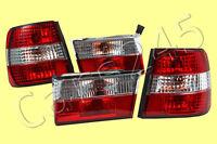 1989-1995 BMW 5-Series E34 Sedan Gray Crystal Tail Lights Rear Lamps FULL SET