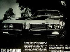 1969 Oldsmobile 442 W32 Original Ad Dr. Olds *Cutlass/hood/decal/455/4 00/v8/door