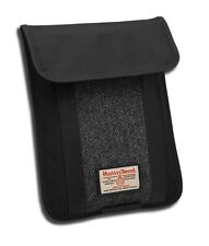 Harris Tweed Custodia per iPad nero / grigio spina di pesce NUOVO 19479