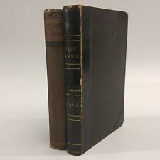 Lot of 2: Antique hardcovers-Authors' Signatures laid in-c 1850