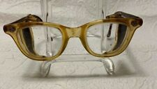 CESCO Safety GLASSES Folding SIDE MESH Vintage Steam Punk Clear Glass Lenses