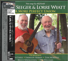PETE SEEGER & LORRE WYATT-A MORE PERFECT UNION-IMPORT CD WITH JAPANESE OBI  D73