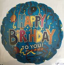 """18"""" Round Shaped Happy Birthday To You Foil Balloon Party Birthday"""