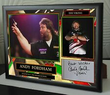 "Andy Fordham Darts Framed Canvas Print Signed ""Great Gift"""