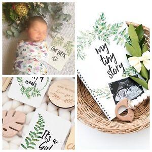 Baby Memory Journal - Pregnancy Milestone Cards - Baby Milestone Cards - Bundle