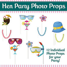 HAWAIIAN HEN PARTY SELFIE PHOTO BOOTH PROPS - Novelty Game Accessories