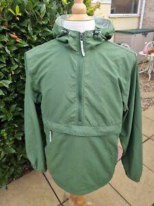 LL Bean Overhead Smock Windbreaker Jacket Green Small