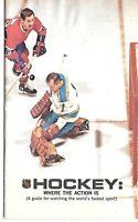 1968/69 Hockey Glenn Hall Cover Media Guide Schedule NHL Press Book