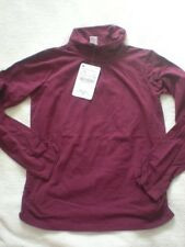 ZARA berry high neck top with spandex size 7-8 years