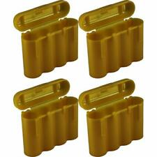 4 Brand New AA / AAA / CR123A Gold Battery Holder Storage Cases
