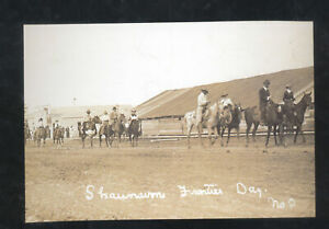 REAL PHOTO SHAUNAVON SASKATCHEWAN CANADA FRONTIER DAYS POSTCARD COPY