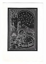VITAUTAS JAKSTAS: Exlibris für I. S. Pandul, Sternbild, Fernrohr
