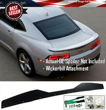 Stain Black Decklid Wing Wickerbill Flap + Tool Fit 14-15 Camaro Factory Spoiler
