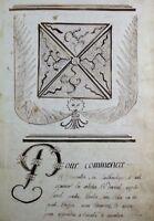 Livret d'Arithmétique manuscrit 1789 Révolution 1791 Ornementation Monêtier