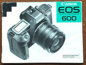 Canon EOS 600  - Anleitung von 02.89