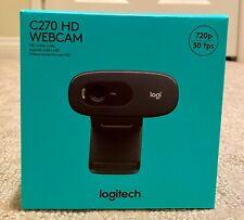 Logitech C270 HD Webcam 720p - Black