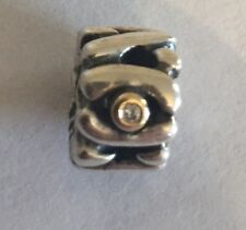 Pandora Silver And Gold Bead With Two Diamonds