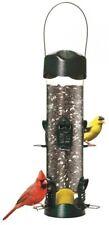 Mega Garden Green Metal Tube Bird Feeder Seed Clean Wild Adjustable