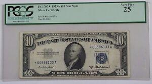 1953-B Ten Dollar Silver Certificate Note FR# 1708 PCGS Choice 58 App (Better) A