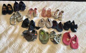 Baby Girl Shoe Bundle 14 Pairs Size Newborn To 4 Shoe Lot