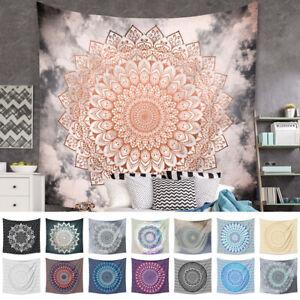 Boho Mandala Hippie Tapestry Wall Hanging Yoga Mat Bedspread Throw Home Decor AU