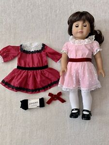 American Girl Samantha Parkington Doll Beforever Meet and Holiday Dress
