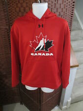 Under Armour Team canada hoodie Sweatshirt Hockey Adult Medium red