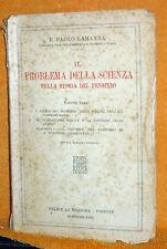 IL PROBLEMA DELLA SCIENZA NELLA STORIA DEL PENSIERO LA MANNA LE MONNIER 1939